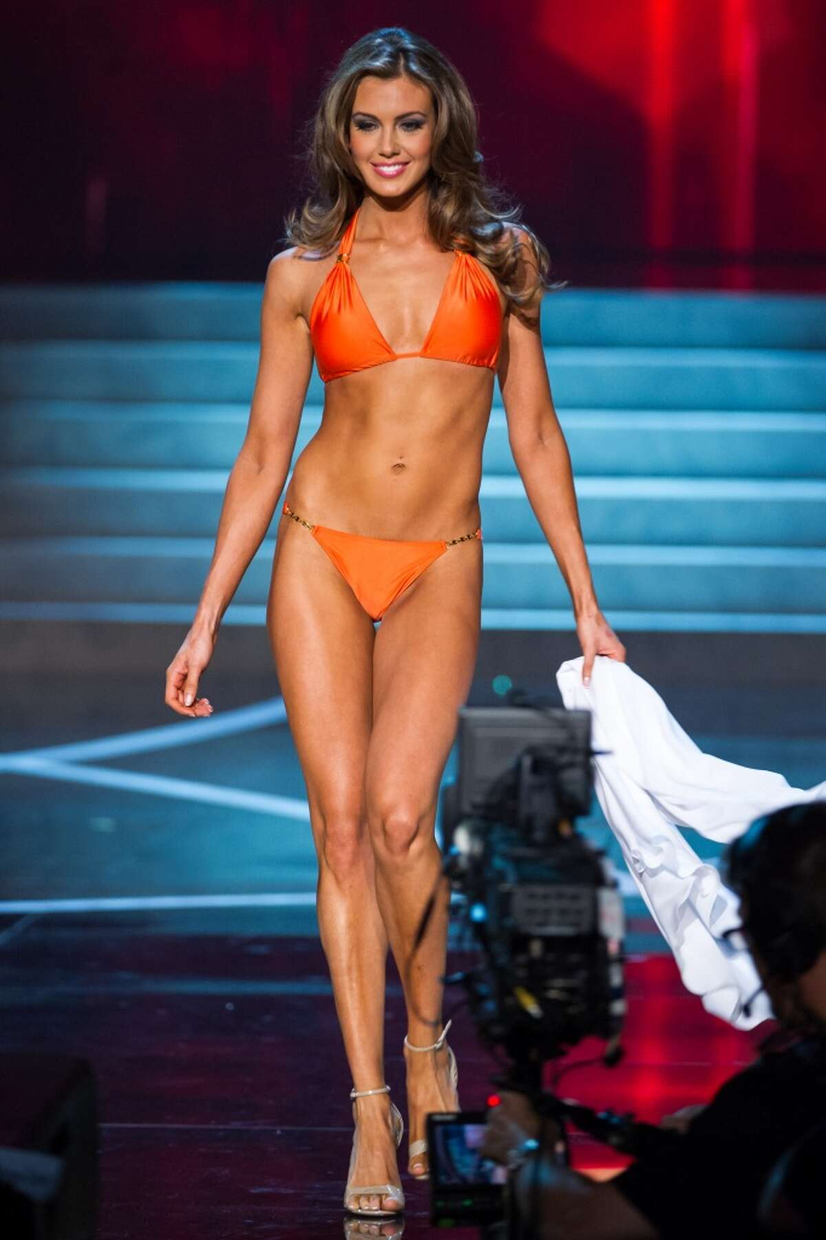 LAS VEGAS, NV - JUNE 16: Miss Connecticut USA 2013 Erin Brady competes during the 2013 Miss USA pageant at PH Live at Planet Hollywood Resort & Casino on June 16, 2013 in Las Vegas, Nevada. (Photo by Michael Stewart/WireImage)