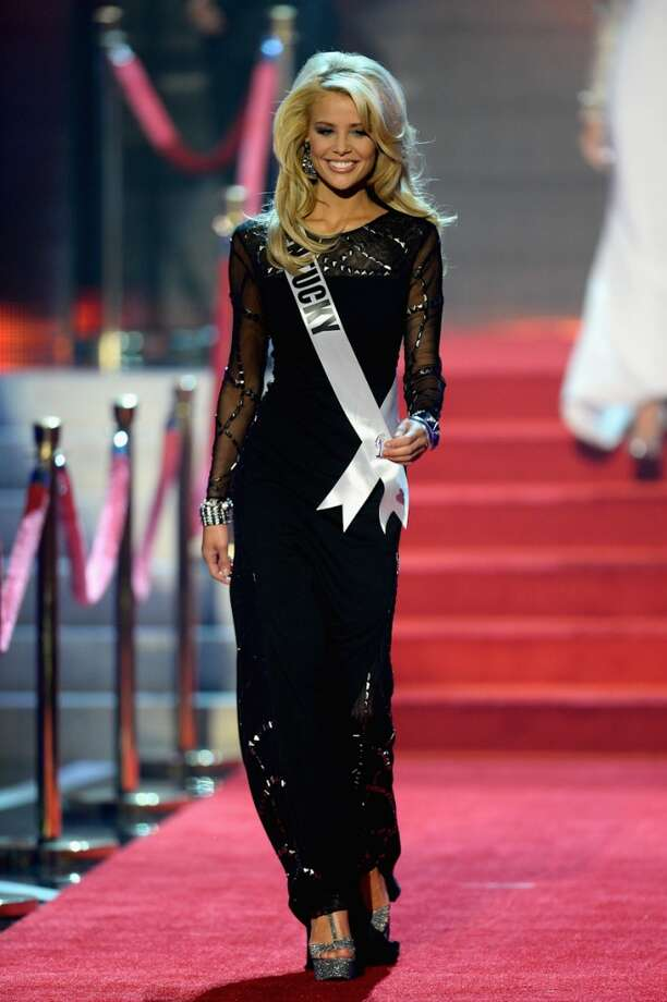 Miss Kentucky USA Allie Leggett walks onstage during the 2013 Miss USA pageant at PH Live at Planet Hollywood Resort & Casino on June 16, 2013 in Las Vegas, Nevada.