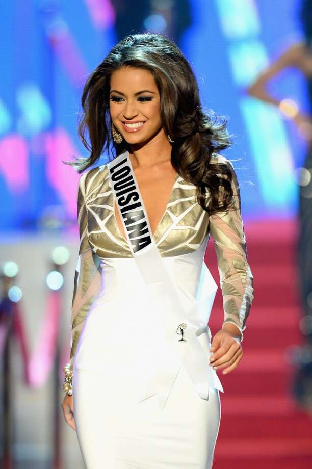 Miss Louisiana USA Kristen Girault walks onstage during the 2013 Miss USA pageant at PH Live at Planet Hollywood Resort & Casino on June 16, 2013 in Las Vegas, Nevada.