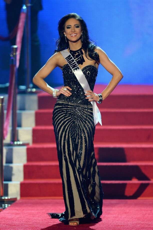 Miss Maine USA Ali Clair walks onstage during the 2013 Miss USA pageant at PH Live at Planet Hollywood Resort & Casino on June 16, 2013 in Las Vegas, Nevada.