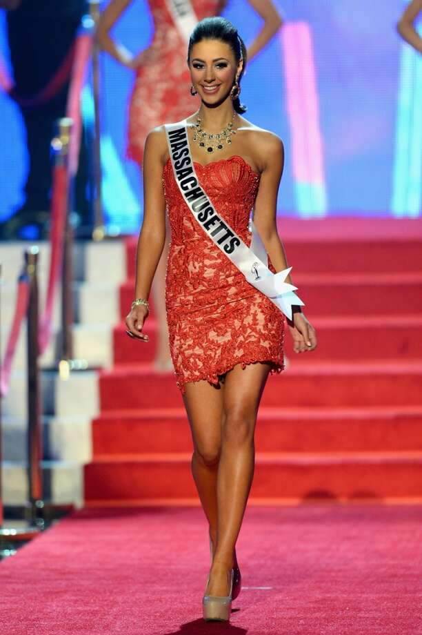 Miss Massachusetts  USA Sarah Kidd walks onstage during the 2013 Miss USA pageant at PH Live at Planet Hollywood Resort & Casino on June 16, 2013 in Las Vegas, Nevada.
