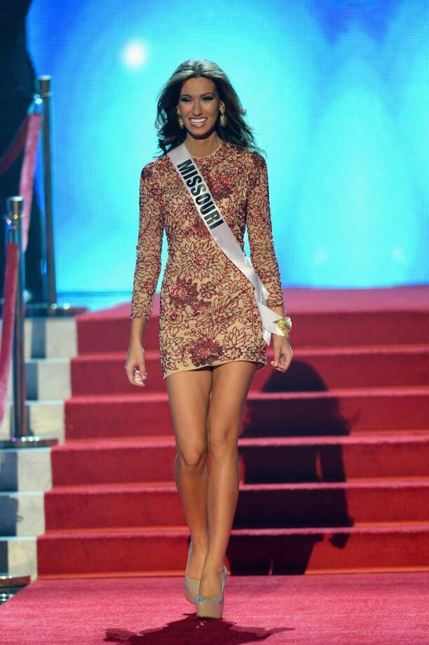 Miss Missouri USA Richelle Orr walks onstage during the 2013 Miss USA pageant at PH Live at Planet Hollywood Resort & Casino on June 16, 2013 in Las Vegas, Nevada.