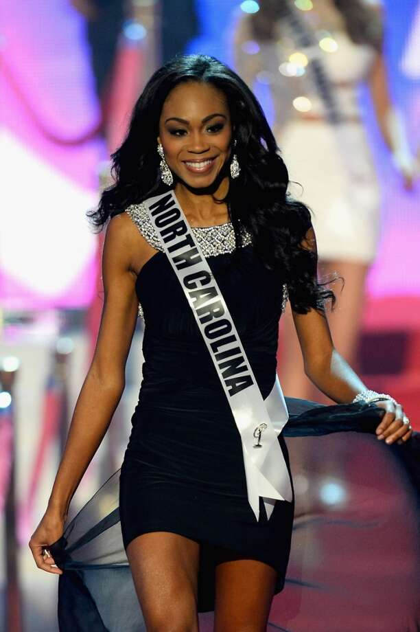 Miss North Carolina USA Ashley Love-Mills walks onstage during the 2013 Miss USA pageant at PH Live at Planet Hollywood Resort & Casino on June 16, 2013 in Las Vegas, Nevada.