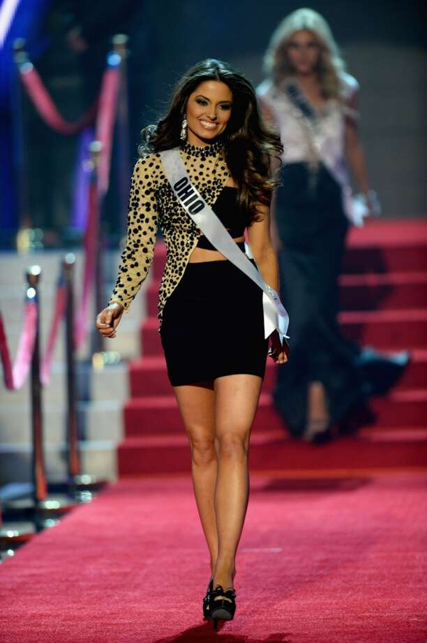 Miss Ohio USA Makenzie Muse walks onstage during the 2013 Miss USA pageant at PH Live at Planet Hollywood Resort & Casino on June 16, 2013 in Las Vegas, Nevada.