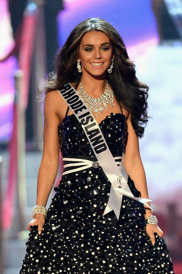 Miss Rhode Island Brittany Stenovitch walks onstage during the 2013 Miss USA pageant at PH Live at Planet Hollywood Resort & Casino on June 16, 2013 in Las Vegas, Nevada.