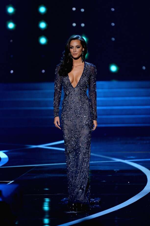 Miss Illinois USA Stacie Juris competes in the evening gown portion during the 2013 Miss USA pageant at PH Live at Planet Hollywood Resort & Casino on June 16, 2013 in Las Vegas, Nevada.