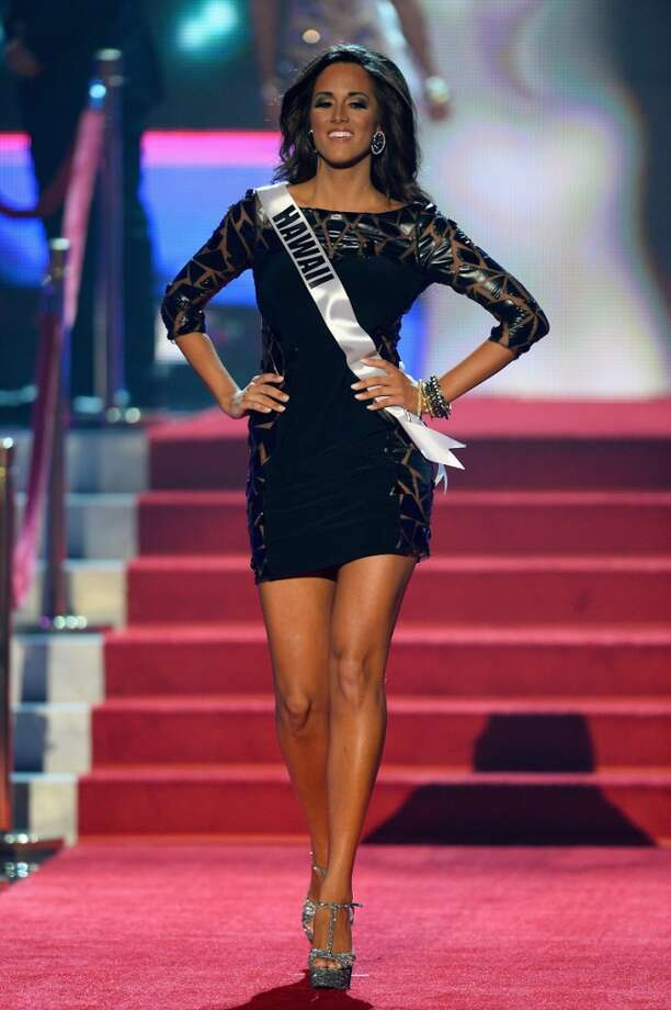 LAS VEGAS, NV - JUNE 16:  Miss Hawaii USA Brianna Acosta walks onstage during the 2013 Miss USA pageant at PH Live at Planet Hollywood Resort & Casino on June 16, 2013 in Las Vegas, Nevada.  (Photo by Ethan Miller/Getty Images)