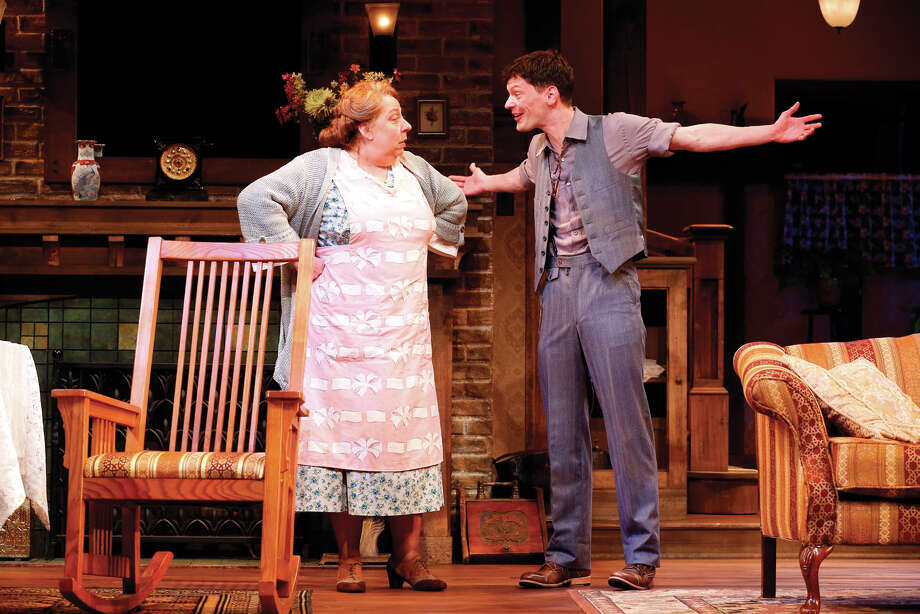 Jayne Houdyshell and Karl Baker Olson in a scene from George KellyâÄôs âÄúThe Show-OffâÄù which continues through June 29 at the Westport country Playhouse. Photo: Contributed Photo / Westport News
