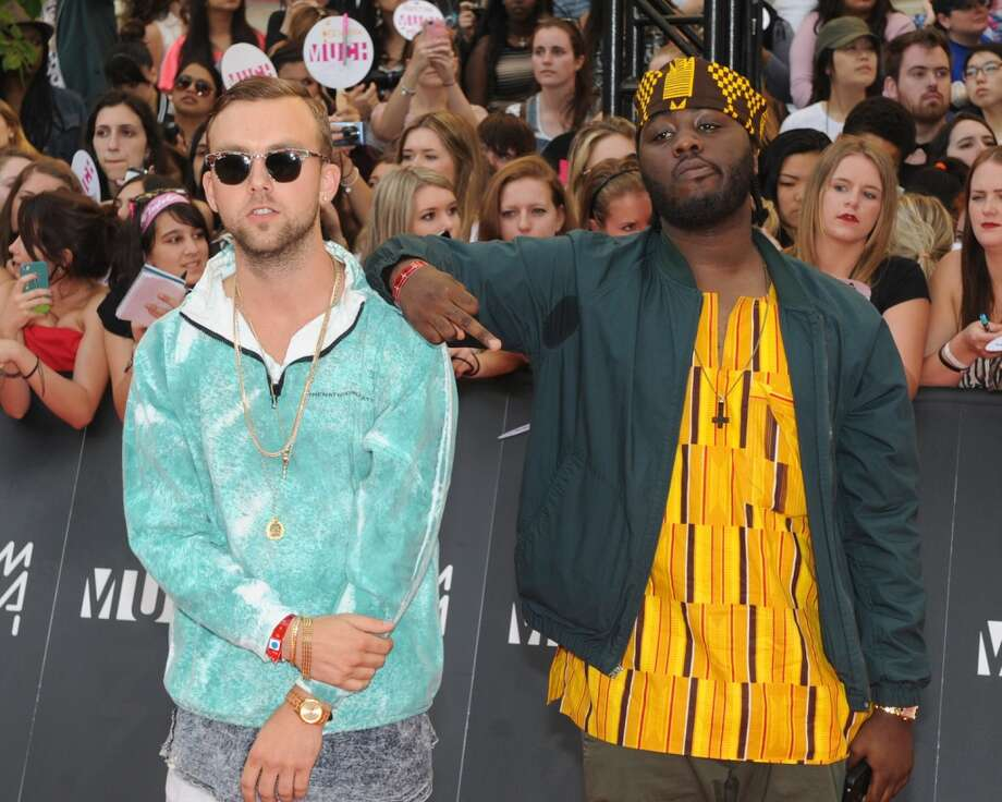 TORONTO, ON - JUNE 16:  Rich Kid and Sonreal arrive on the red carpet at the 2013 MuchMusic Video Awards at Bell Media Headquarters on June 16, 2013 in Toronto, Canada.  (Photo by Jag Gundu/Getty Images)
