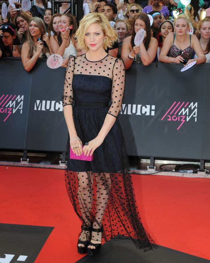 TORONTO, ON - JUNE 16:  Brittany Snow arrives on the red carpet at the 2013 MuchMusic Video Awards at Bell Media Headquarters on June 16, 2013 in Toronto, Canada.  (Photo by Jag Gundu/Getty Images)
