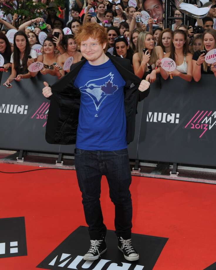 TORONTO, ON - JUNE 16:  Ed Sheeran arrives on the red carpet at the 2013 MuchMusic Video Awards at Bell Media Headquarters on June 16, 2013 in Toronto, Canada.  (Photo by Jag Gundu/Getty Images)