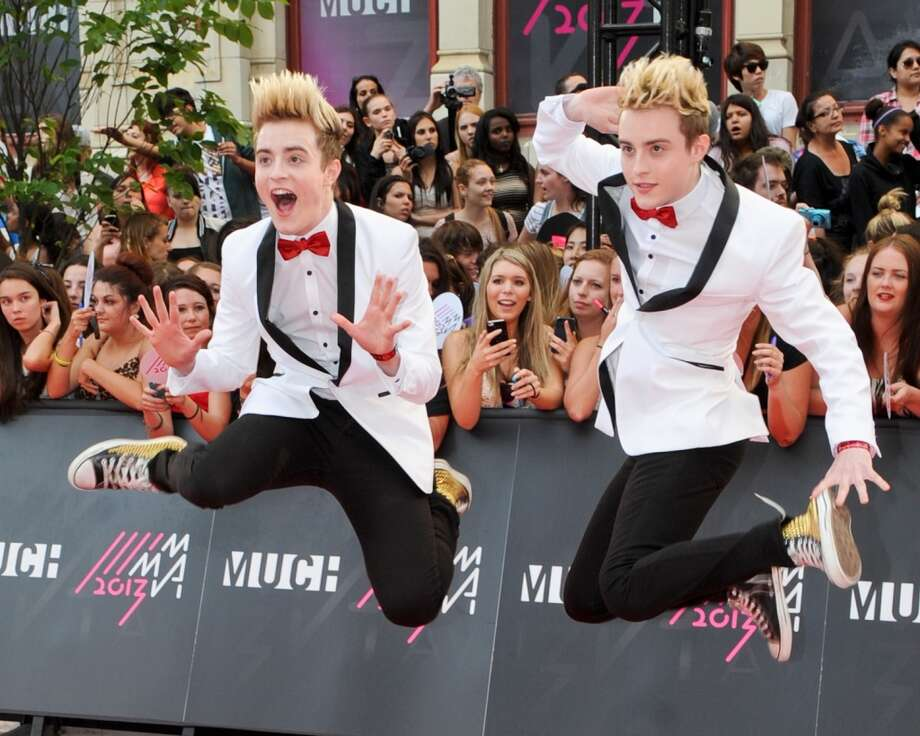TORONTO, ON - JUNE 16:  Jedward arrives on the red carpet at the 2013 MuchMusic Video Awards at Bell Media Headquarters on June 16, 2013 in Toronto, Canada.  (Photo by Jag Gundu/Getty Images)