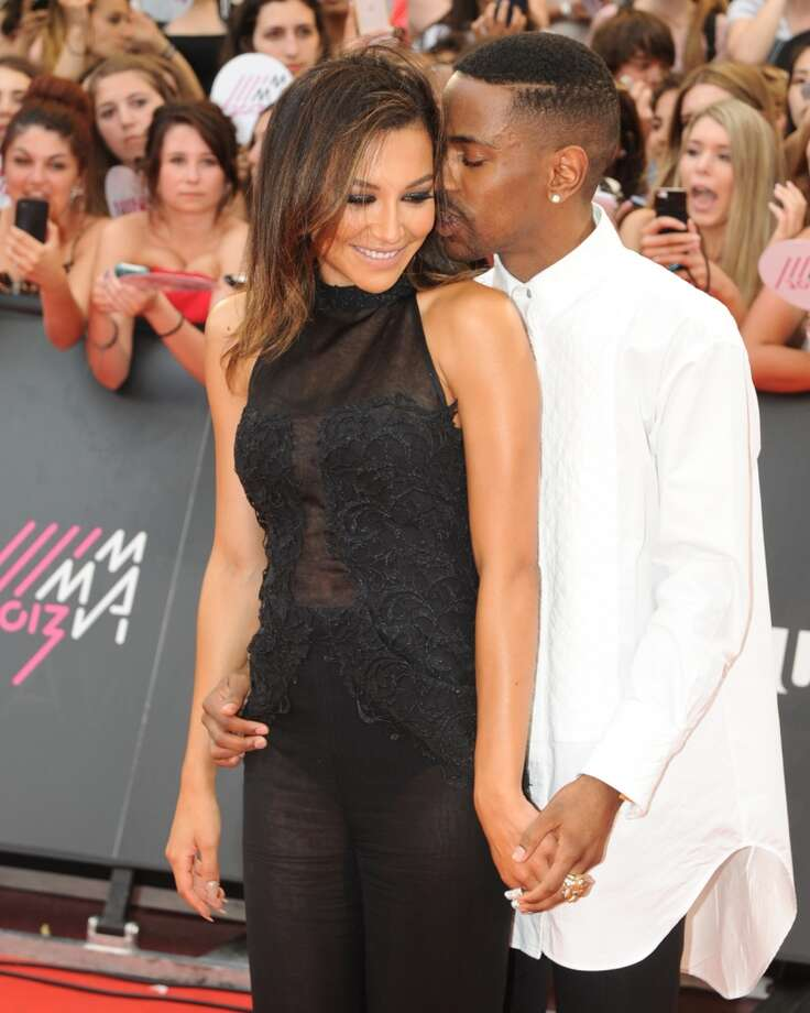 TORONTO, ON - JUNE 16:  Naya Rivera and Big Sean arrive on the red carpet at the 2013 MuchMusic Video Awards at Bell Media Headquarters on June 16, 2013 in Toronto, Canada.  (Photo by Jag Gundu/Getty Images)