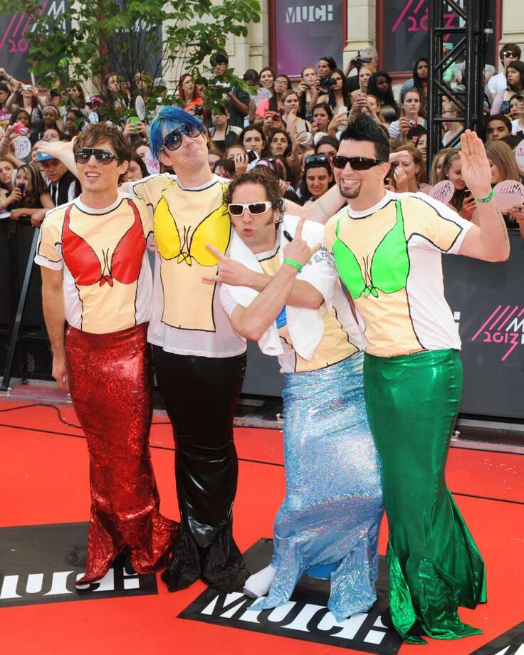 TORONTO, ON - JUNE 16:  Marianas Trench arrive on the red carpet at the 2013 MuchMusic Video Awards at Bell Media Headquarters on June 16, 2013 in Toronto, Canada.  (Photo by Jag Gundu/Getty Images)