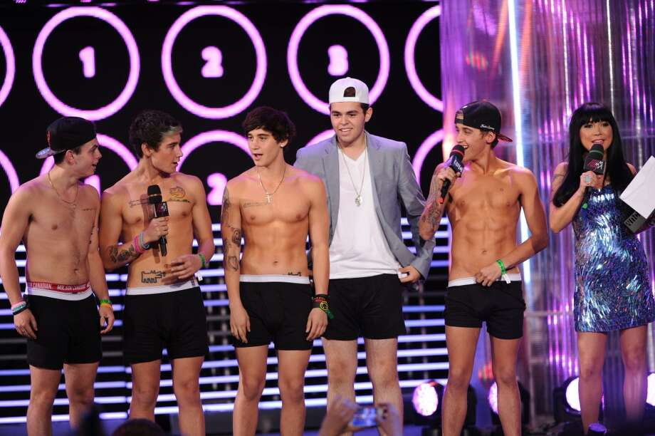 TORONTO, ON - JUNE 16:  The Janoskians perform during the 2013 MuchMusic Video Awards at MuchMusic HQ on June 16, 2013 in Toronto, Canada.  (Photo by George Pimentel/WireImage)