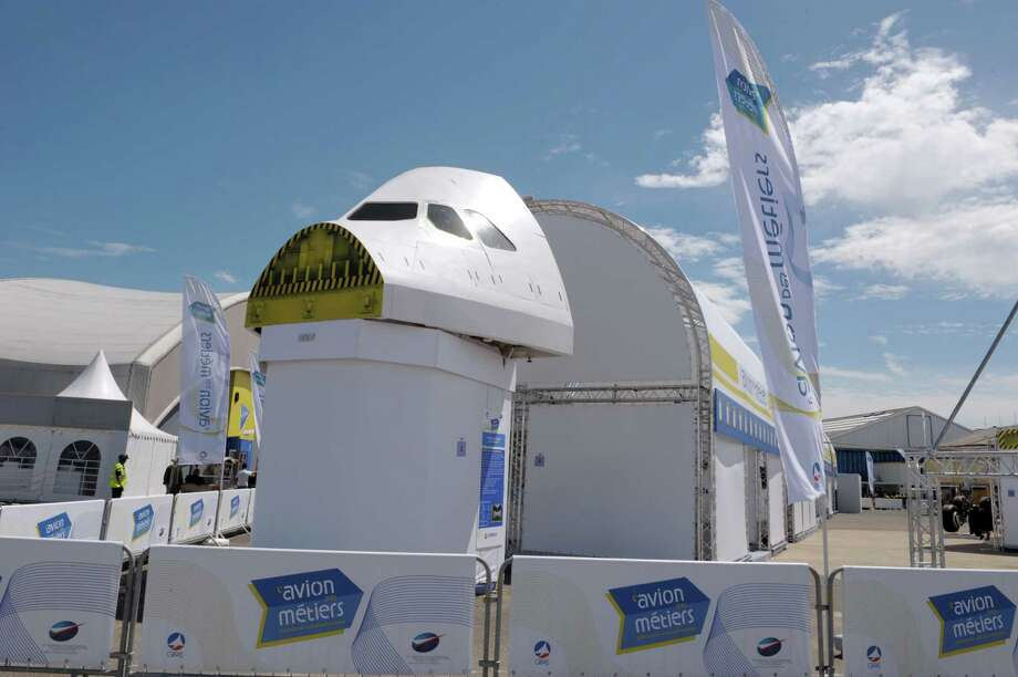 View of the Careers plane at  Le Bourget on June 16, 2013, on the eve of the opening of  the Paris Air show. This new exhibition provides an opportunity to discover 50 trades and meet the people who design, produce and sell aircraft. Photo: AFP, AFP/Getty Images / 2013 AFP