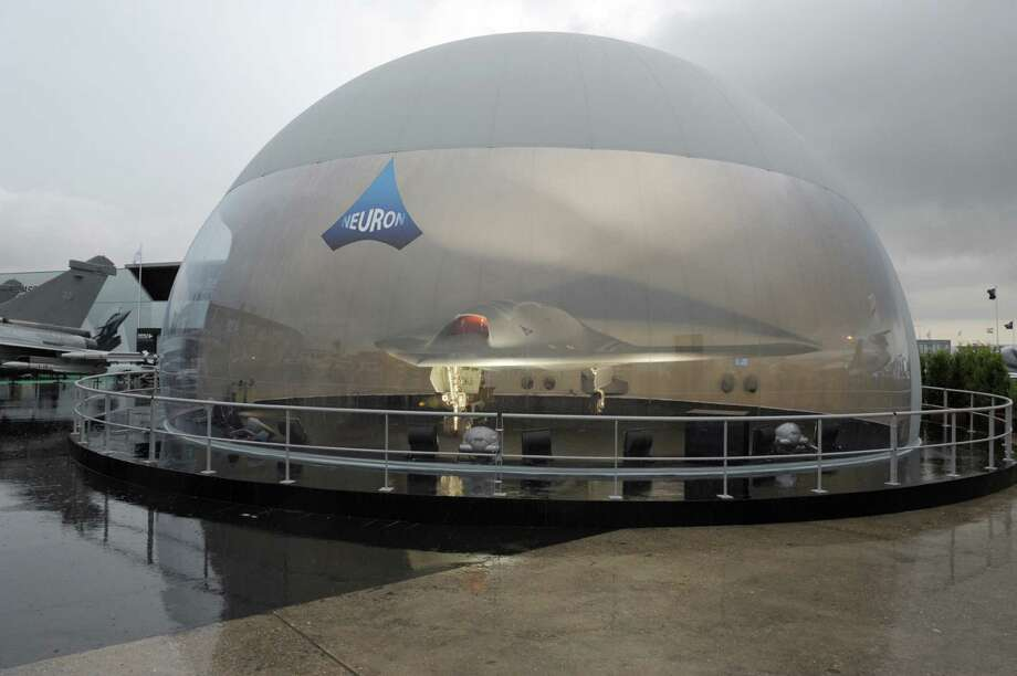 "A photo on June 17, 2013 shows the ""Neuron"" military drone on the Dassault pavilion at Le Bourget airport on the opening day of the Paris Air show. Photo: AFP, AFP/Getty Images / 2013 AFP"