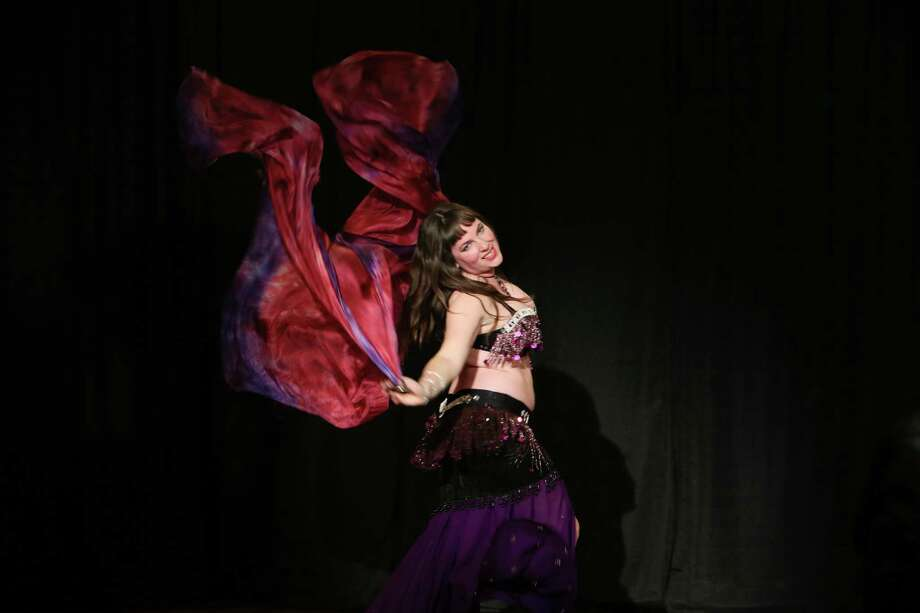 Jamie Shelton, a belly dancer in San Marcos, is a finalist on a new AMC competition series that showcases small towns. Photo: Gary Miller, AMC / San Antonio Express-News