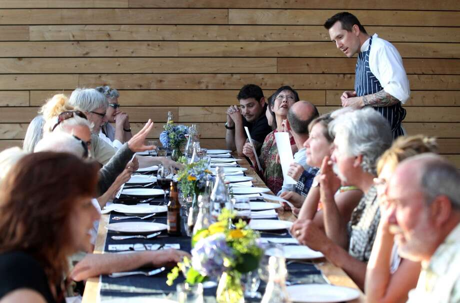 Jason Smith from Mullen and Smith pop up dinners chats with his guests