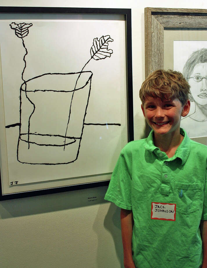 "Jack Johnson of New Canaan won Best in Show for ""Double Leaves"" in the youth category in the 23rd annual Juried Student Exhibition of the Silvermine School of Art. Photo: Contributed"