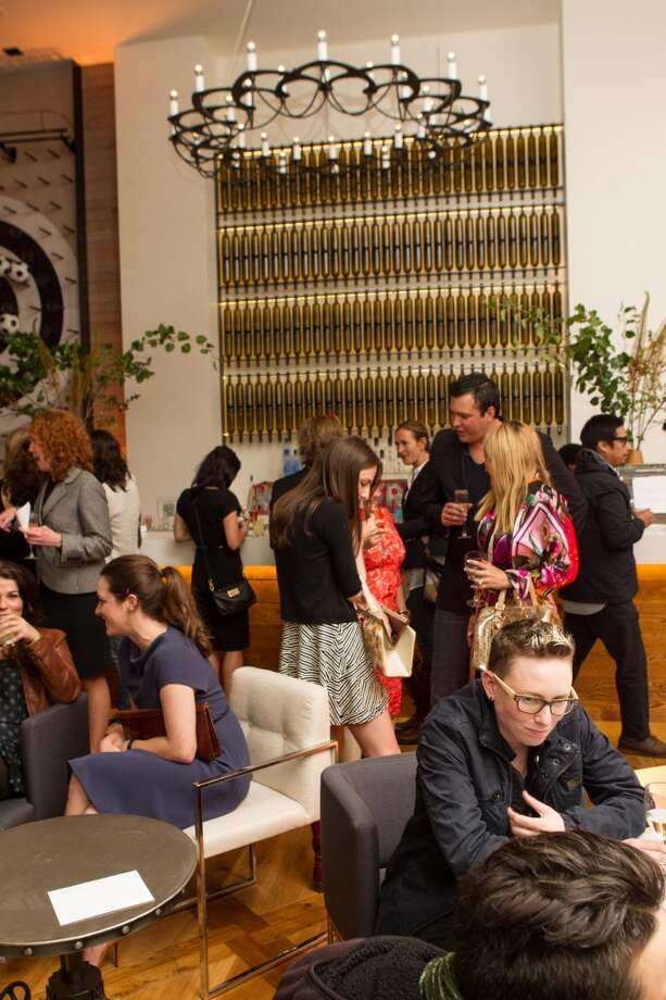 The bar area at S+R Lounge, during its opening shindig last week.