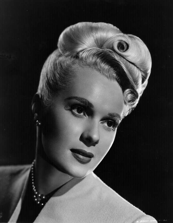 circa 1950:  Adele Jergens (1917 - ), the Hollywood film actress, and former model. She played leads and second leads in some 50 films, usually show girls or gangster molls. Photo: Getty Images
