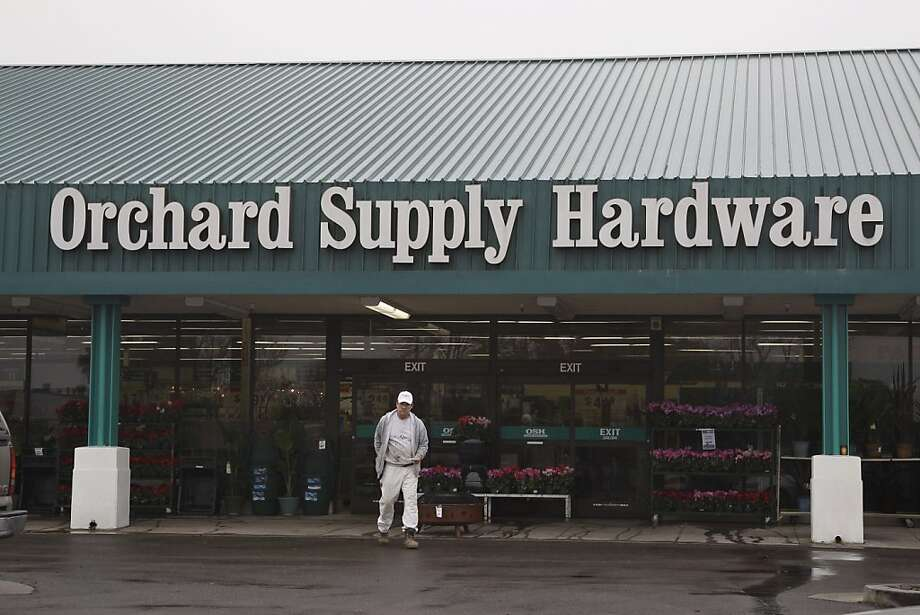 A customer leaves an Orchard Supply Hardware store in Mountain View in January 2012. Orchard declared bankruptcy over the weekend, and Lowe's has stepped up as the prospective buyer. Photo: Paul Sakuma, Associated Press