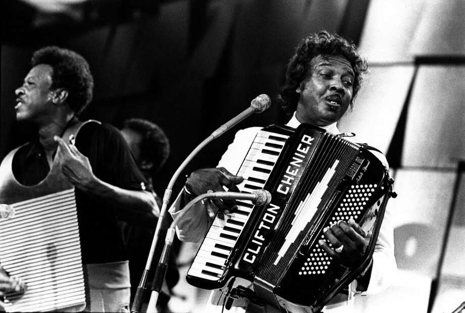 """King of Zydeco"" Clifton Chenier crafted his own accordion-based brand of Gulf Coast blues. Photo: Andrew Putler, Staff / Redferns"