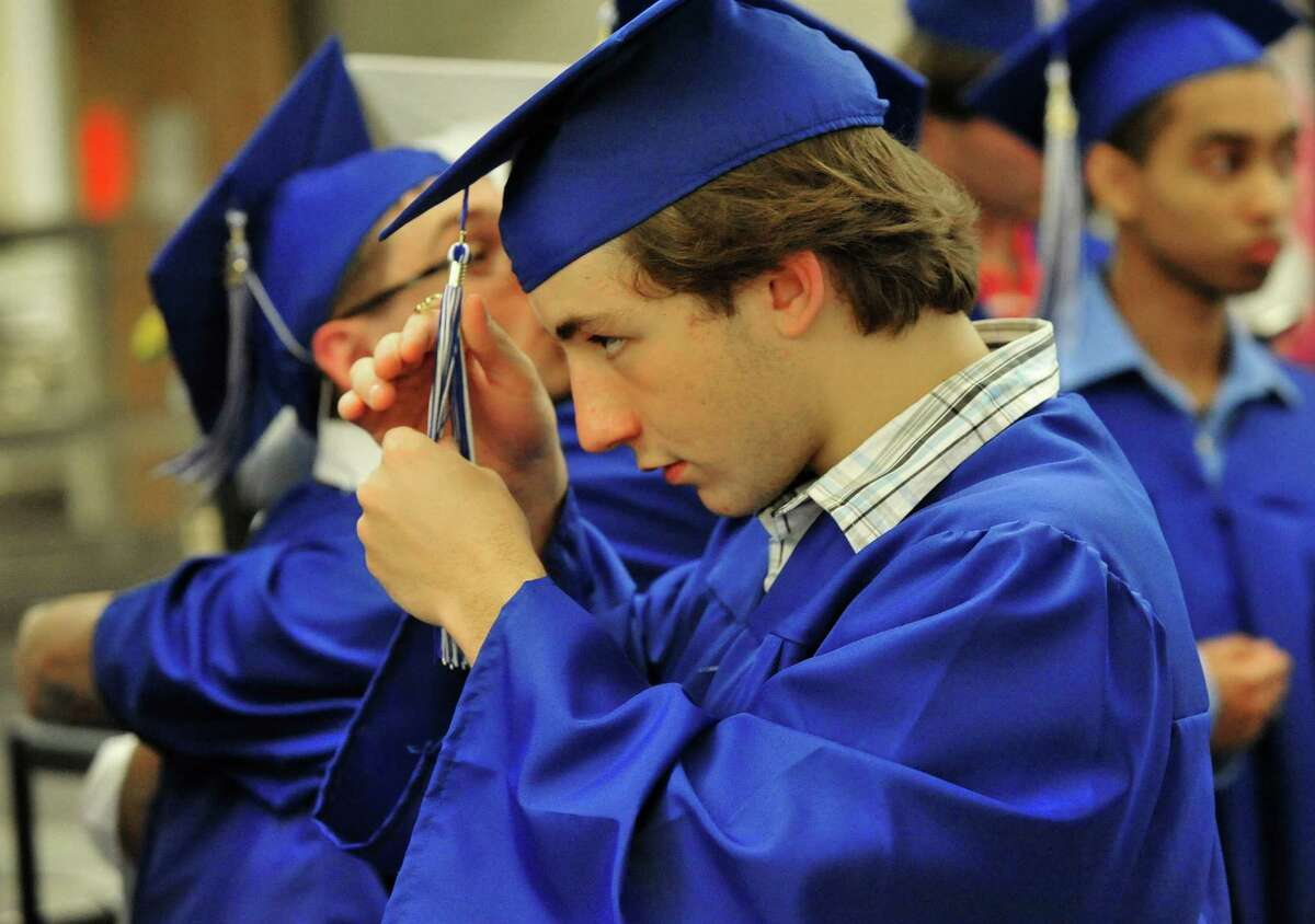 Henry Abbott Technical School holds graduation exercises in the Danbury, Conn, high school Monday, June 17, 2013.