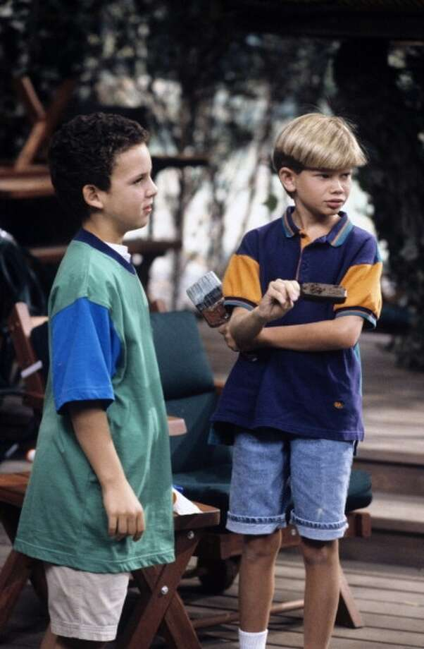 """A 1993 scene from """"Boy Meets World"""" with Ben Savage and Lee Norris (Photo by Frank Carroll/Disney ABC Television Group)"""