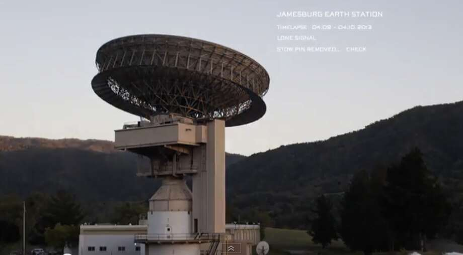 Screen grab of the Jamesburg Earth Station from the Lone Singal Media YouTube page. The Jamesburg station was one of the dishes used to carry the Apollo Moon landings live to the world.