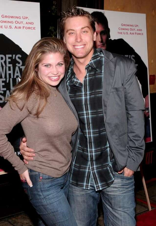 Danielle Fishel and Lance Bass at the The Abbey in West Hollywood in 2006.