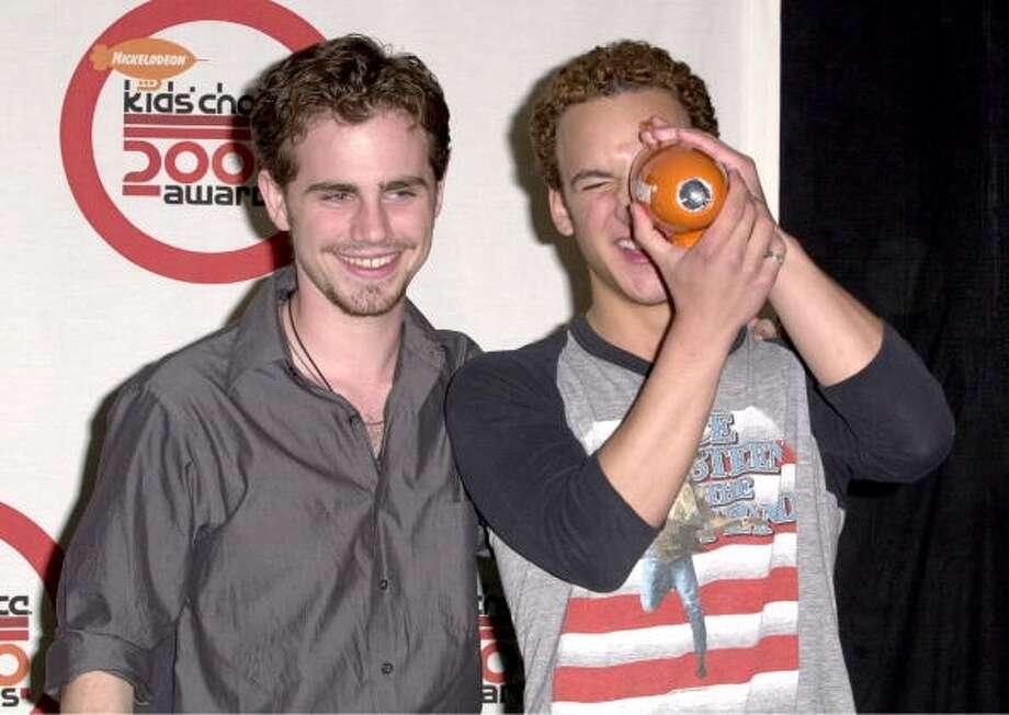 Rider Strong and Ben Savage at the 2000 Kids Choice Awards.