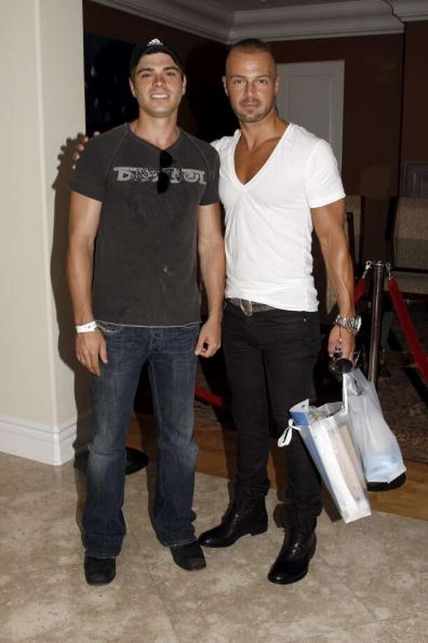 Matthew Lawrence and Joe Lawrence at the Red White & Blue Summer Oasis in Los Angeles on August 23, 2008.