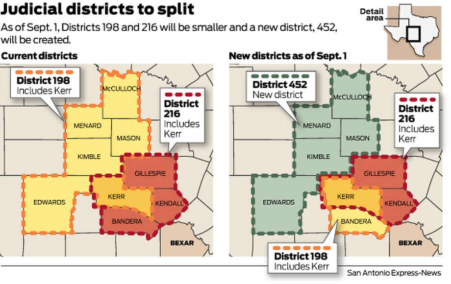 As of Sept. 1, Districts 198 and 216 will be smaller and a new district, 452, will be created. Photo: Mike Fisher