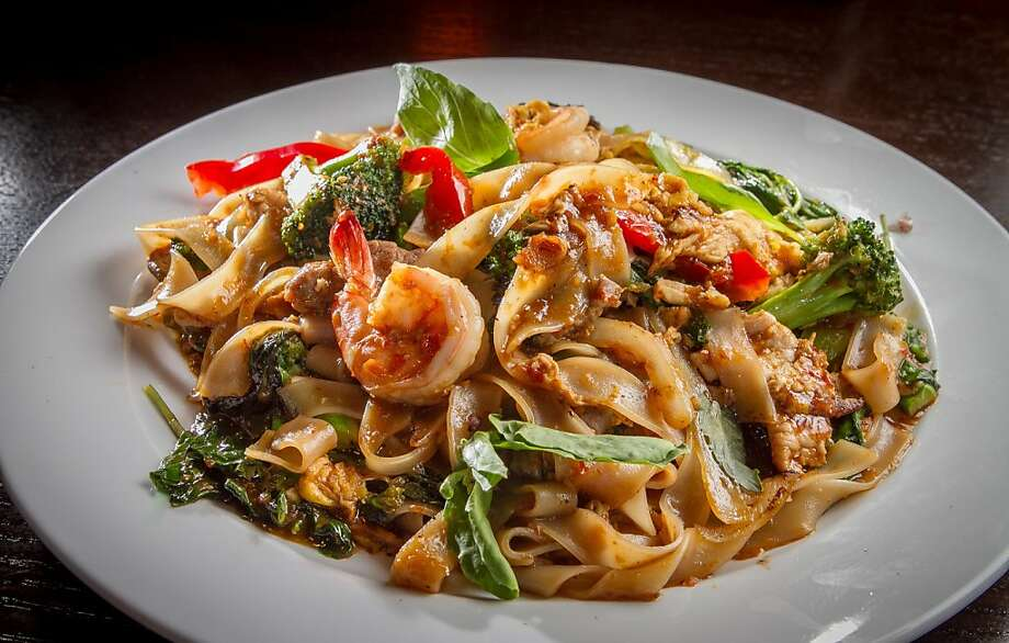 "The ""Drunken Noodles"" at Arun Thai in Novato, Calif., is seen on Friday,  June 14th, 2013. Photo: John Storey, Special To The Chronicle"