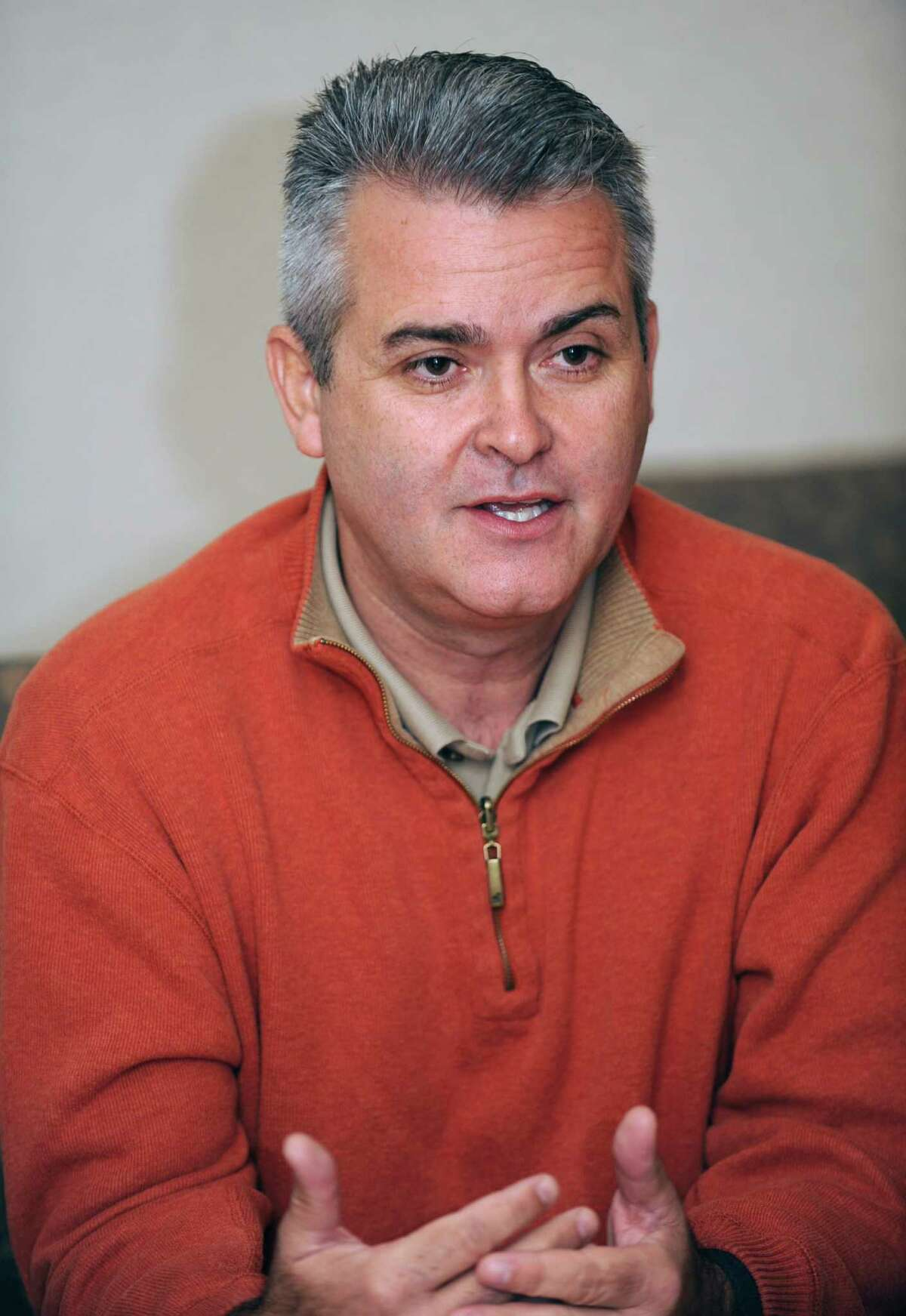 Assemblyman Steve McLaughlin speaks during an editorial board meeting at the Times Union on Thursday, Oct. 25, 2012 in Colonie, N.Y. McLaughlin is running against Cheryl Roberts in the 107th Assembly District. (Lori Van Buren / Times Union)