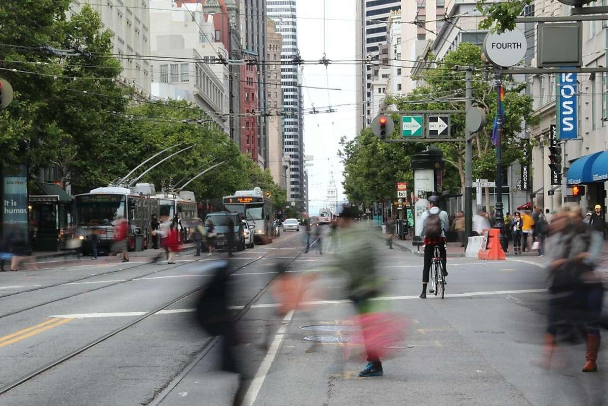 Pedestrians on Market Street