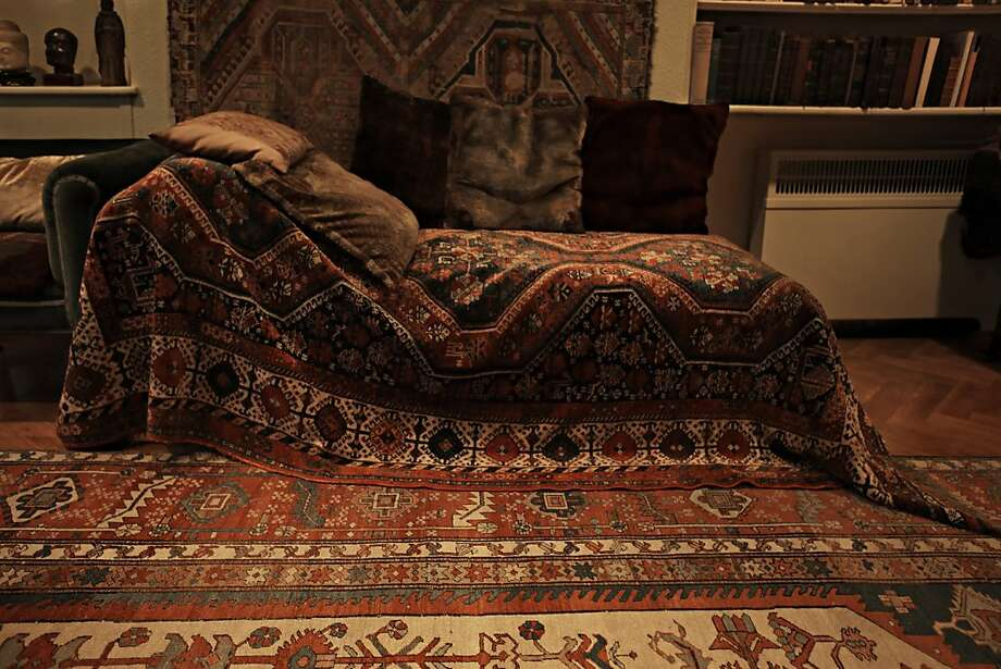 Sigmund Freud's couch, photographed by Annie Leibovitz, is part of her book and exhibition. Photo: Annie Leibovitz