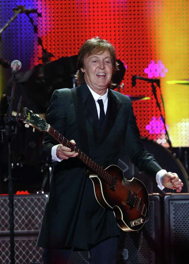 Paul McCartney performs on Day 2 of the 2013 Bonnaroo Music and Arts Festival on Friday, June 14, 2013 in Manchester, Tenn. (Photo by Wade Payne/Invision/AP) Photo: Wade Payne / Invision