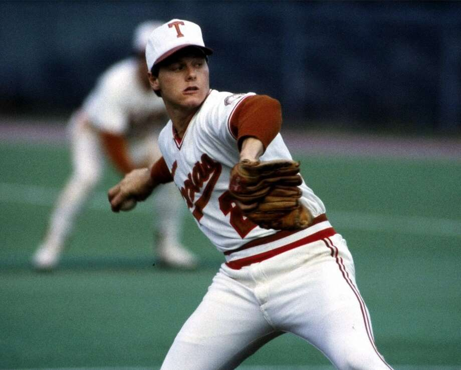 A two-time All-American at Texas, Roger Clemens led the Longhorns to the 1983 College World Series title. Photo: David Kennedy, Associated Press