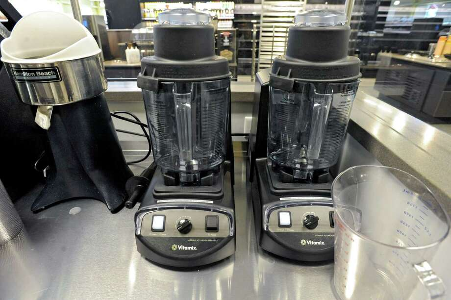 Vitamix blenders for smoothies at the new Honest Weight Food Co-op at 100 Watervliet Ave. on Monday, June 17, 2013 in Albany, N.Y. The soft opening is Wednesday. (Lori Van Buren / Times Union) Photo: Lori Van Buren / 10022837A