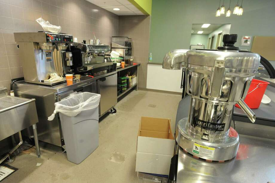 Cappuccino and smoothie area at the new Honest Weight Food Co-op at 100 Watervliet Ave. on Monday, June 17, 2013 in Albany, N.Y. The soft opening is Wednesday. (Lori Van Buren / Times Union) Photo: Lori Van Buren / 10022837A