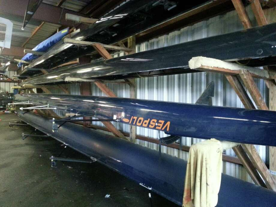 Carin Lane/Times Union Boats stored in the boat house.