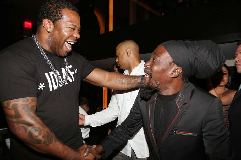 NEW YORK, NY - JUNE 17:  (L-R) Busta Rhymes and Junior Reid attend The 40/40 Club 10 Year Anniversary Party at 40 / 40 Club on June 17, 2013 in New York City.  (Photo by Johnny Nunez/WireImage)