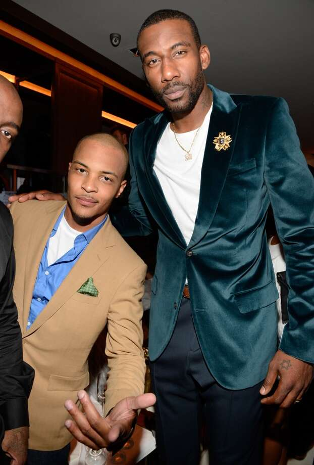 NEW YORK, NY - JUNE 17:  (Exclusive Coverage)  T.I. and Amare Stoudemire attend The 40/40 Club 10 Year Anniversary Party at 40 / 40 Club on June 17, 2013 in New York City.  (Photo by Kevin Mazur/WireImage)
