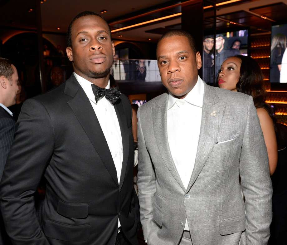 NEW YORK, NY - JUNE 17:  (Exclusive Coverage) Geno Smith and Jay-Z attend  The 40/40 Club 10 Year Anniversary Party at 40 / 40 Club on June 17, 2013 in New York City.  (Photo by Kevin Mazur/WireImage)
