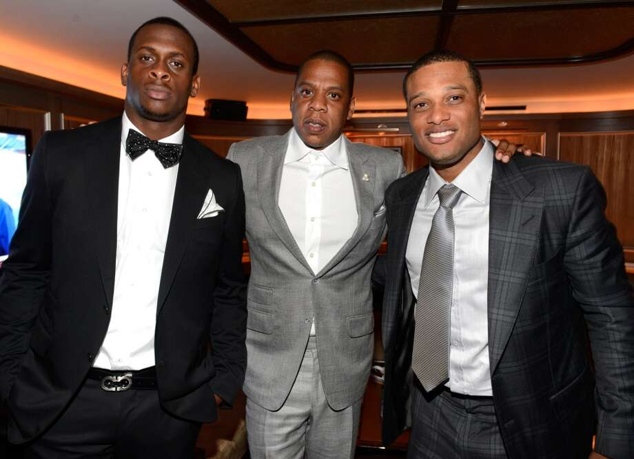 NEW YORK, NY - JUNE 17:  (Exclusive Coverage)  Geno Smith, Jay-Z,  and Robinson Cano attend The 40/40 Club 10 Year Anniversary Party at 40 / 40 Club on June 17, 2013 in New York City.  (Photo by Kevin Mazur/WireImage)