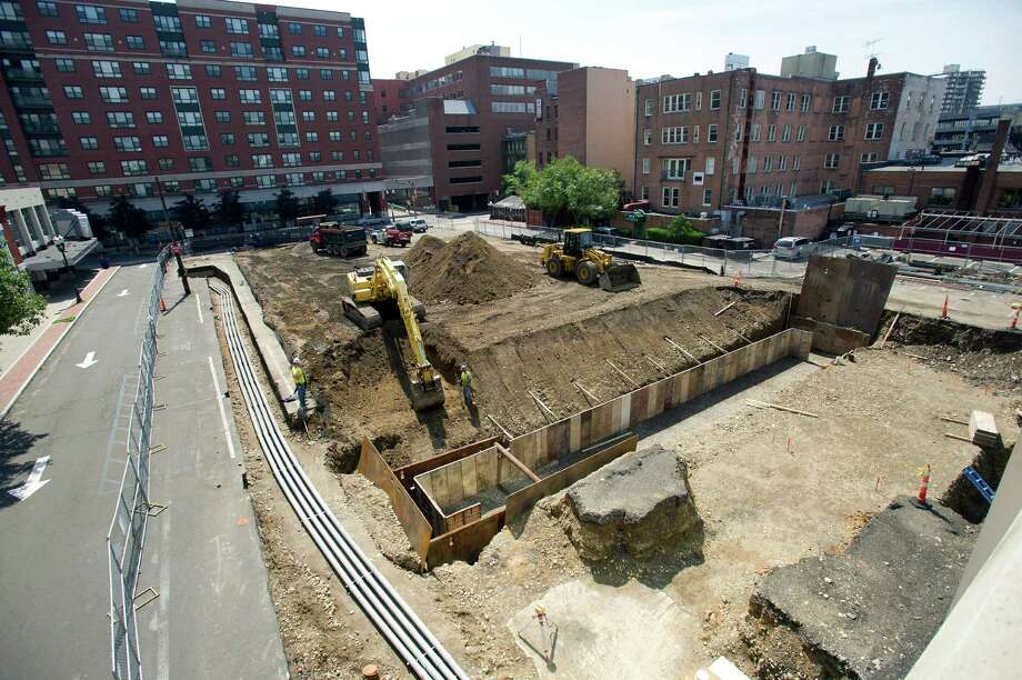 Construction continues in the former parking lots between Summer Street and Washington Blvd. in Stamford, Conn., on Tuesday, June 18, 2013. Photo: Lindsay Perry / Stamford Advocate