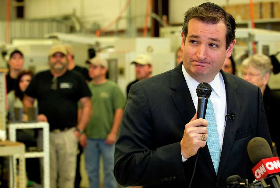 Sen. Ted Cruz speaks about second amendment rights to a group at the LaRue Tactical manufacturing plant in Leander, Texas, Tuesday, Feb. 19, 2013. Founded by Mark and Ellen LaRue, LaRue Tactical is known world-wide for sniper targets, mounting solutions and hyper-accurate rifle systems. (AP Photo/Statesman.com, Ralph Barrera)  MAGS OUT; NO SALES; INTERNET AND TV MUST CREDIT PHOTOGRAPHER AND STATESMAN.COM Photo: Ralph Barrera, Associated Press / American-Statesman